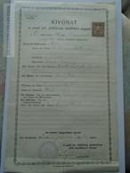 ZA179.3  Old Document Hungary JUDAICA - Pesti Izraelita H. Rabbinátus -  Moritz TSCHUK -Marie BLAU -GLÜCK 1930 - Naissance & Baptême