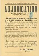 Affiche Sur Papier Timbré - Adjudication Volontaire A CATUS (Lot)  (VP 827)) - Affiches