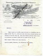 44 - Loire-atlantique - NANTES - Facture PORTOLEAU - Manufacture De Chaussures, Chaussons, Pantoufles - 1925 - REF 275 - Suisse