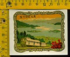 Originale Souvenir Decalcomania D' Epoca Verbania Lago Maggiore Stresa - Verbania