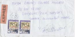 UN MINURSO 1994 Laayoune Sahara Maroc Guinea Field Post Feldpost Peacekeeping Military Express Cover - Militaria