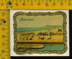 Originale Souvenir Decalcomania D' Epoca Rimini Riccione - Rimini
