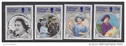 Falkland Islands 1985 Life And Times Of The Queen Mother 4v ** Mnh (41753) - Falklandeilanden
