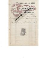 25 - Doubs - BLAMONT - Facture NAPIOT - Fromage En Gros, Gruyère - 1910 - REF 275 - Suisse