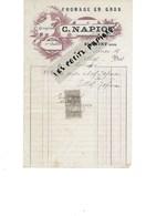 25 - Doubs - BLAMONT - Facture NAPIOT - Fromage En Gros, Gruyère - 1911 - REF 275 - Suisse