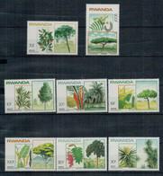 RWANDA     1983    TREES         MNH**   SET X 8 - Rwanda
