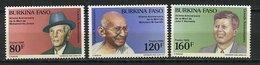 Burkina ** N° 793 à 795 - Grands Anniversaires, Ghandi, Etc... - Burkina Faso (1984-...)