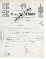 91 - Essonne - ATHIS-MONS - Facture TOURNIER - Charpente, Menuiserie - 1953 - REF 275 - Suisse