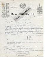 91 - Essonne - ATHIS-MONS - Facture TOURNIER - Charpente, Menuiserie - 1952 - REF 275 - Suisse