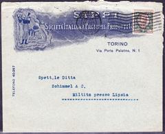 Italien Italy Italie - Brief Von Turin Nach Miltitz Bei Leipzig  1922 - Marcofilía