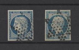 FRANCE  YT  N° 4 Et 10  Obl   1850-52 - France