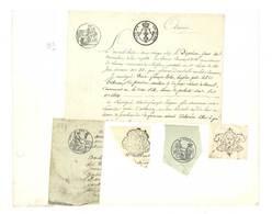 6 Fragments Avec Divers Cachets Avant 1900 (Voir Scan)  (VP 831)) - Cachets Généralité