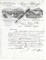 88 - Vosges - ARCHETTES - Facture ALTHOFFER - Manufacture De Draps Feutrés - 1915 - REF 275 - Suisse