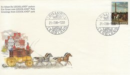 Postmark: Greetings From Legoland Park.  Billund. Denmark  H-1210 - Holidays & Tourism