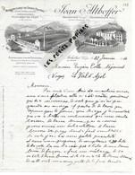 88 - Vosges - ARCHETTES - Facture ALTHOFFER - Manufacture De Draps Feutrés - 1916 - REF 275 - Suisse