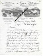 88 - Vosges - ARCHETTES - Facture ALTHOFFER - Manufacture De Draps Feutrés - 1915 - REF 275 - Svizzera