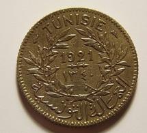 Tunisia 1 Franc 1921 Varnished - Tunisie