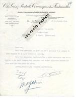 60 - Oise - LESFONTAINETTES - Facture Cie DES GRES ET PRODUITS CERAMIQUES DES FONTAINETTES- 1924 - REF 275 - Suisse