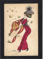 CPA Naillod écrite Art Nouveau Femme Girl Women Mode Chapeau érotisme - Naillod