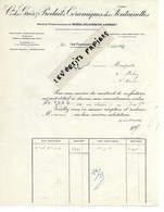60 - Oise - LESFONTAINETTES - Facture Cie DES GRES ET PRODUITS CERAMIQUES DES FONTAINETTES- 1952 - REF 275 - Suisse