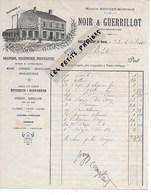 52 - Haute-marne - VAUX-SOUS-AUBIGNY - Facture NOIR & GUERRILLOT - Draperie, Rouennerie, Nouveautés - 1910 - REF 275 - Suisse