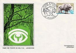 TP N° 1795 Seul Sur Enveloppe  Du Parc De Bel-Val Avec Cachet 1er Jour De Mouzon - 1961-....