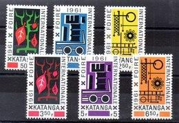 Serie De Katanga Nº Yvert 69/74 Nuevo Y Con Charnela - Katanga