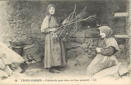 Dpts Div.-ref-AF679- Haute Corse - Types Corses - Cuisson Du Pain Dans Un Four Primitif - Boulangerie - Carte Bon Etat - - Frankrijk