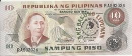 PHILIPPINES 10 PISO ND1981 UNC P 167 - Filippijnen