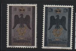 LIECHTENSTEIN N° 313/314 * (charnière) AIGLE - Liechtenstein