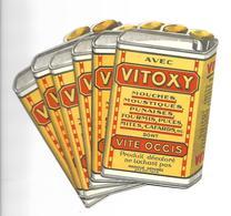 Lot De 6 Cartes Publicitaires Vitoxy - Cartes