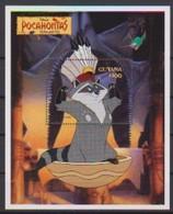 2472  - GUYANA   Pocahontas  Meeko And Flit 1995 . - Disney