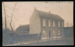 ZELDZAME FOTOKAART  ECOLE COMMUNALE WOUBRECHTEGEM ( STEMPEL HERZELE 1910 ) 2 SCANS - Herzele