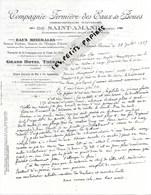 59 - Nord - ST-AMAND - Facture Cie FERMIERE DES EAUX ET BOUES - Eaux Minérales - Grand Hôtel Thermal - 1927 - REF 275 - Suisse