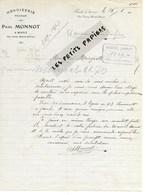 70 - Haute-saône - BOULT - Facture MONNOT - Menuiserie - 1905 - REF 275 - Suisse