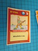 """1526-1550 : TRADING CARD 1991 JEU """"CANAILLES"""" PANINI / JET D'EAU - MITRAILLETTE A EAU - Altri"""