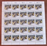 Briefmarken BRD Bogen 1987 Michel 1337 Briefträger Zusammendruck - BRD
