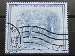 *ITALIA* USATI 2006 - CORTE COSTITUZIONALE - SASSONE 2901 - LUSSO/FIOR DI STAMPA - 6. 1946-.. Repubblica