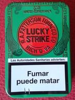 SPAIN ESPAGNE ANTIGUA LATA METÁLICA DE CIGARRILLOS TABACO TOBACCO CIGARETTES CIGARETTES AÑO 2009 APROX. LUCKY STRIKE VER - Cajas Para Tabaco (vacios)