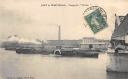 """AIN  01  PORT DE FRANS - PASSAGE DU """"PARISIEN""""  NAVIGATION FLUVIALE - Frankreich"""