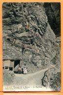 F196, Passage De La Gemmi, Le Pavillon, Jullien Frères, 7157, Animée,  Circulée 1912 - VS Valais