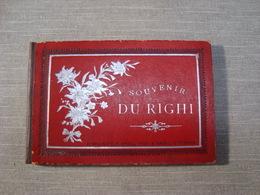 Album Souvenir Printed Photographies Ca1890 Righi Librairie C.F. Prell, Succ. A. Prell Lucerne Railway Train - Photos