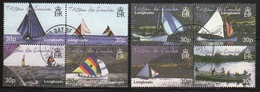 Tristan Da Cunha 2001 Complete Set Of Stamps Commemorating Tristan Longboats. - Tristan Da Cunha