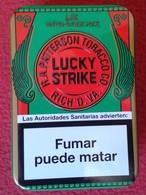 SPAIN ESPAGNE ANTIGUA LATA METÁLICA DE CIGARRILLOS TABACO TOBACCO CIGARETTES CIGARETTES AÑO 2009 APROX. LUCKY STRIKE VER - Boites à Tabac Vides