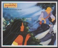 2474  - GUYANA   Pocahontas  Hides While Meeko Welcomes John Smith . - Disney