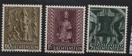LIECHTENSTEIN N° 350/352 * (charnière) CLOCHE - Liechtenstein