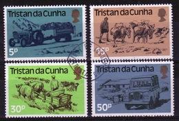 Tristan Da Cunha 1983 Complete Set Of Stamps Commemorating Land Transport. - Tristan Da Cunha