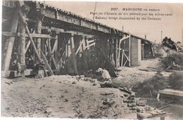 CPA B50  MARCOING En Ruines- Pont Du Chemin De Fer Détruit Par Les Allemands-railway Bridge Déjuamited By The Germans- - Marcoing