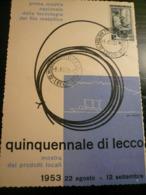 Lecco 1953 Mostra Filo Metallico Numerata - Fabbriche E Imprese