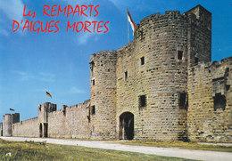 30 Aigues Mortes Porte De La Marine Les Remparts De La Ville (2 Scans) - Aigues-Mortes